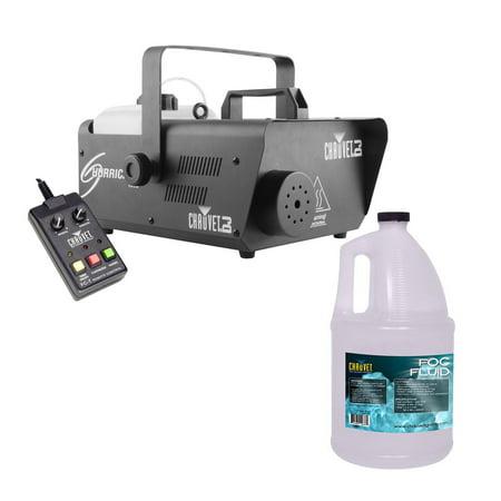 CHAUVET DJ Hurricane 1600 Fog/Smoke Machine w/ Wired Remote + Fog Fluid | - Fog Machine Controller