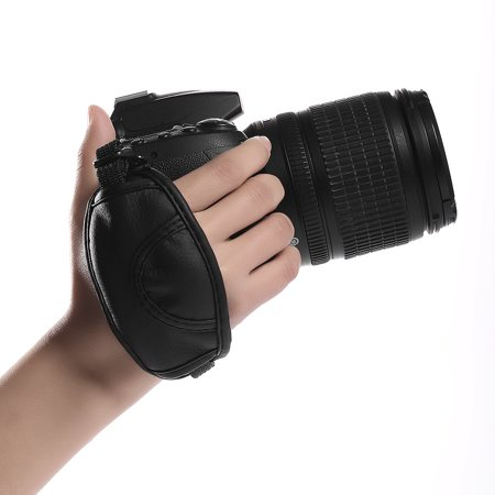 Canon Hand Strap - Camera Hand Strap PU Leather Hand Grip Anti stripping Wrist Strap For Canon 5D Mark III EOS Rebel T5i T4i T3i T3 60D 70D 7D Digital SLR Camera
