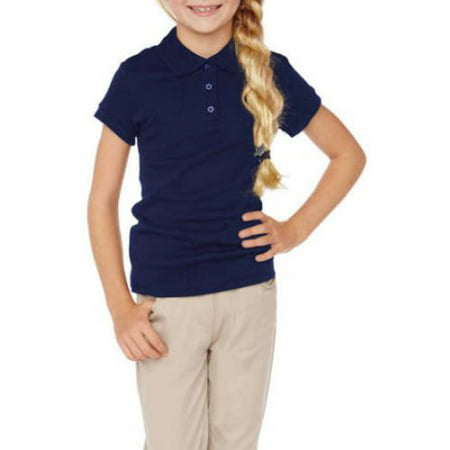 Girls School Uniforms Short Sleeve Polo Shirt