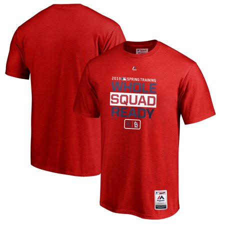 St. Louis Cardinals Majestic 2019 Spring Training Authentic Collection T-Shirt - Red