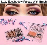 Two-Color Gradient Eye Shadow Palette Lazy Eyeshadow Non-blooming Waterproof Glitter Eyeshadow