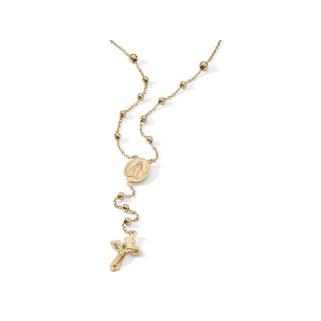 Rosary Style Necklace in 18k Gold over Sterling - Make A Rosary
