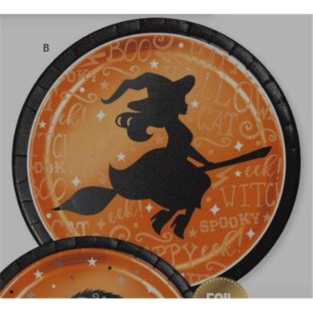 Halloween Cake Plate (Wicked Witch Cat Foil 8 Ct Halloween 7