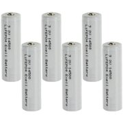 6x 3.2V 600mAh AA LiFePO4 Rechargeable Batteries Replaces 30228, 30225 USA SHIP