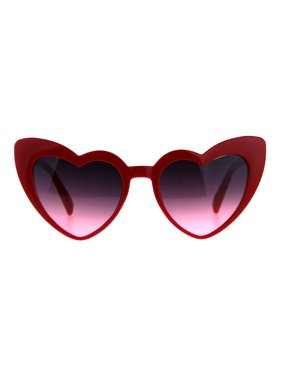 924da8170f Product Image Womens Oceanic Color Lens Heart Shape Cat Eye Valentines  Sunglasses Red Pink Smoke