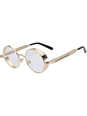 a28df52af3 Product Image Steampunk Retro Gothic Vintage Gold Metal Round Circle Frame  Sunglasses Clear Lens