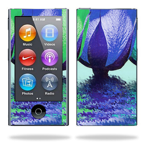 Mightyskins Protective Skin Decal Cover for Apple iPod Nano 7G (7th generation) MP3 Player wrap sticker skins Tulips