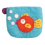 Women's Felted Wool Coin Pouch Purse - Goldfish