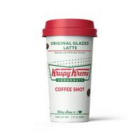 Krispy Kreme Coffee Shots - 100mg Caffeine, Original Glazed Latte, Deliciously sweet coffee energy boost, ready-to-drink 2-oz shot (6 pack)