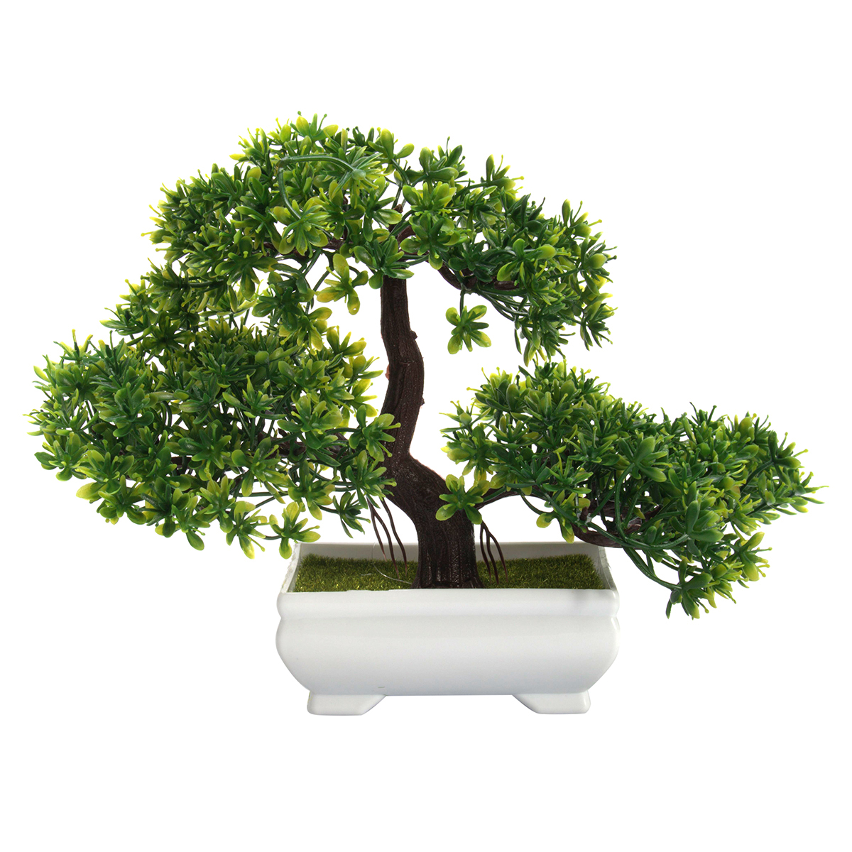 "7"" Bonsai Tree in Pot Artificial Plastic Planter Plant Office Home Decoration"