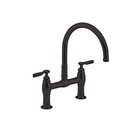 Kohler K-6130-4-2BZ Parq Two-Hole Deck-Mount Kitchen Sink Faucet with 9  inch Gooseneck Spout and Lever Handles Finish: Oil Rubb