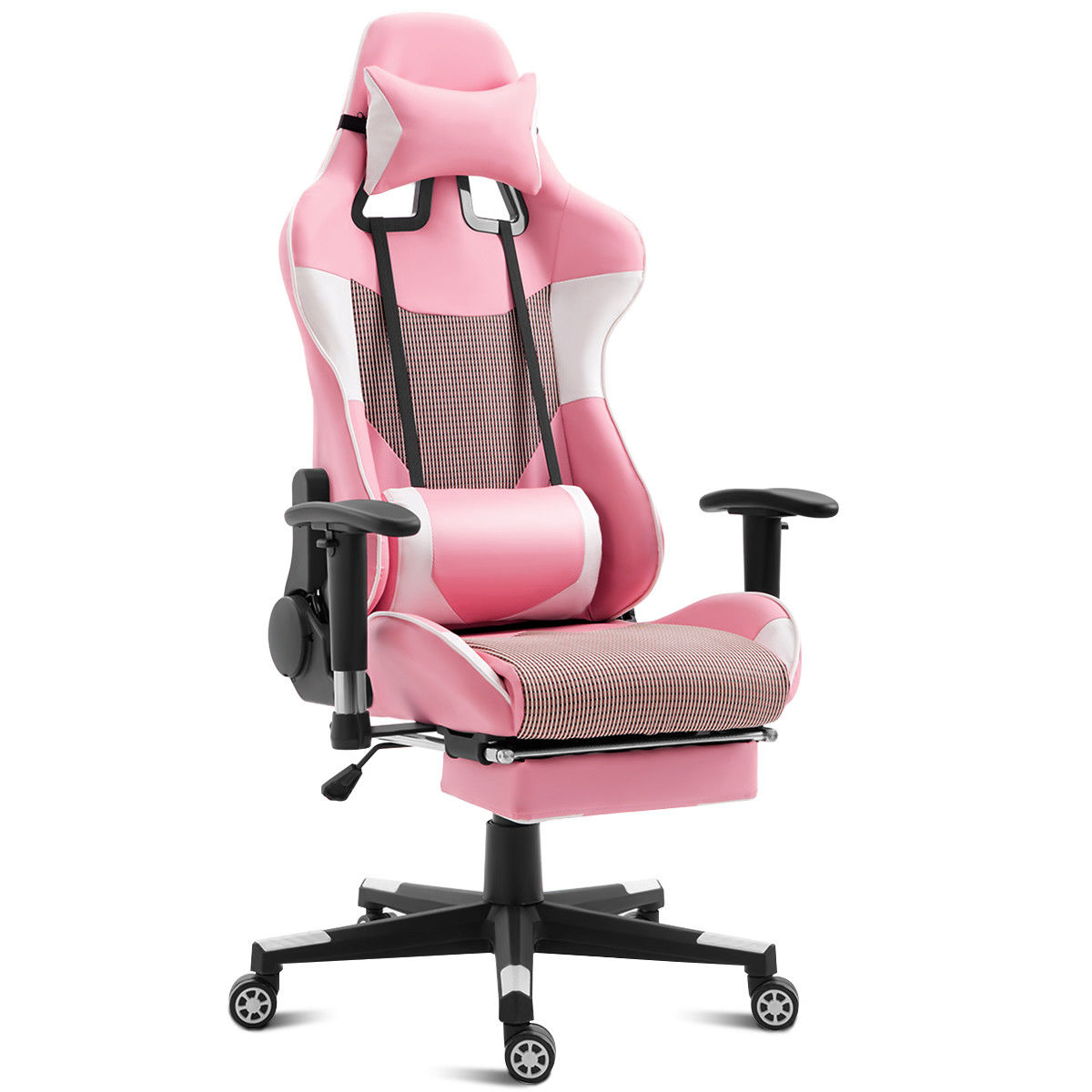 Costway Ergonomic Gaming Chair High Back Racing Office Chair w/Lumbar Support & Footrest