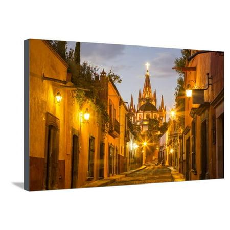 3 Light Cobblestone Wall (Cobblestones of Aldama Street, San Miguel De Allende, Mexico Stretched Canvas Print Wall Art By Chuck Haney )