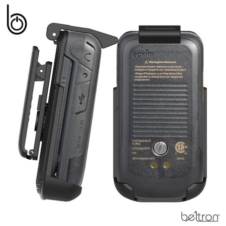 Sonim XP3 Holster, Heavy Duty Belt Clip Holster for Sonim XP3800 (AT&T FirstNet Sprint Flip Phone) Features: Secure Fit, Quick Release Latch, Durable Rotating Belt Clip (Reliable and