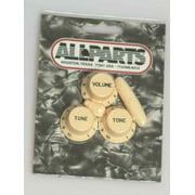 Strat Knob Set 1-Vol 2-Tone 1-Switch Knob 1-Tip Cream Allparts PK-0178-028