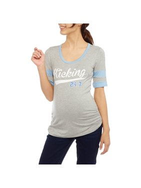 maternity short sleeve kicking 247 graphic hockey