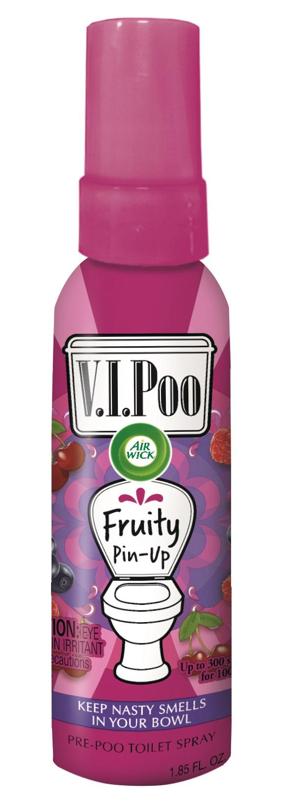 Air Wick V.I. Poo Pre-Poo Toilet Spray, Fruity Pin-Up, 1.9 oz Spray Bottle, 6/Carton
