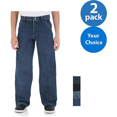 Wrangler Boys' Carpenter Jeans, 2 Pack