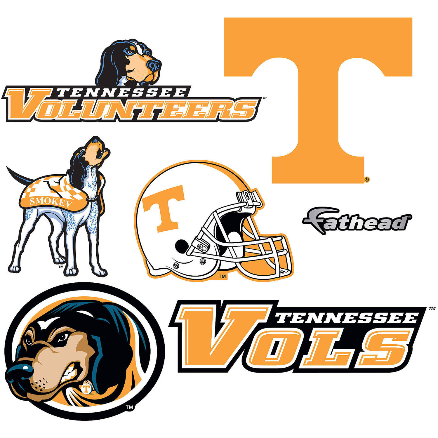 Fathead University of Tennessee Teammate Logo Assortment