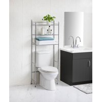 Mainstays 3-Shelf Bathroom over the Toilet Space Saver with Liner, Chrome