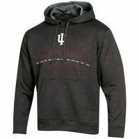 Men's Russell Athletic Black Indiana Hoosiers Synthetic Pullover Hoodie