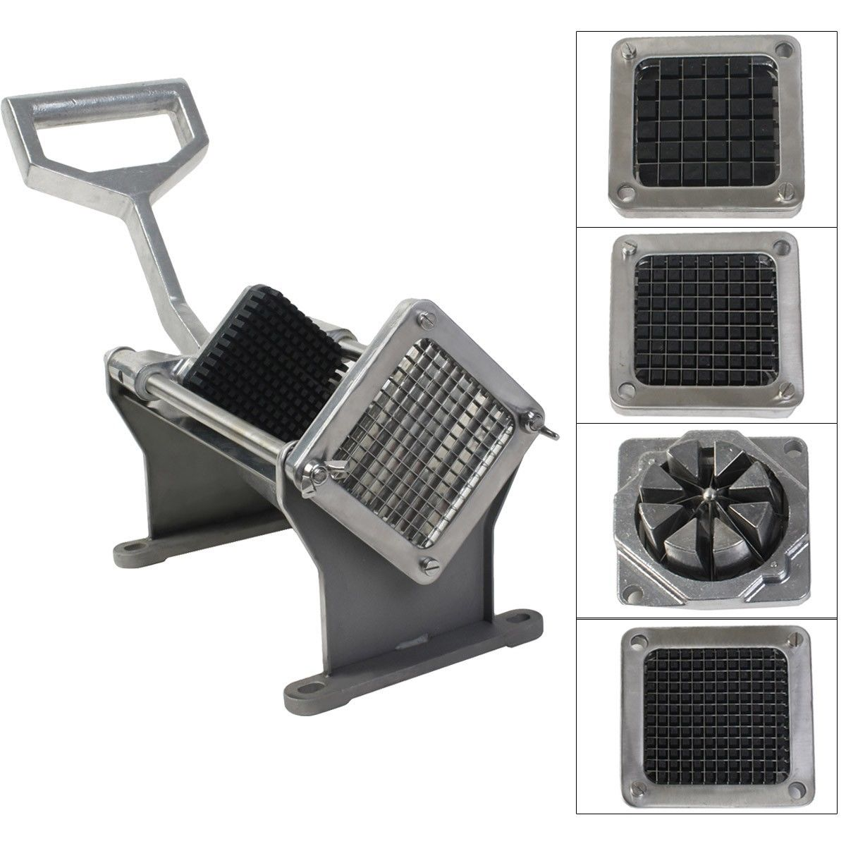 Costway Potato French Fry Fruit Vegetable Cutter Slicer Commercial Quality W 4 Blades