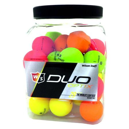 Wilson Staff Duo Soft Optix Golf Balls, Assorted Colors, 36 Pack (Air Optix Colors)