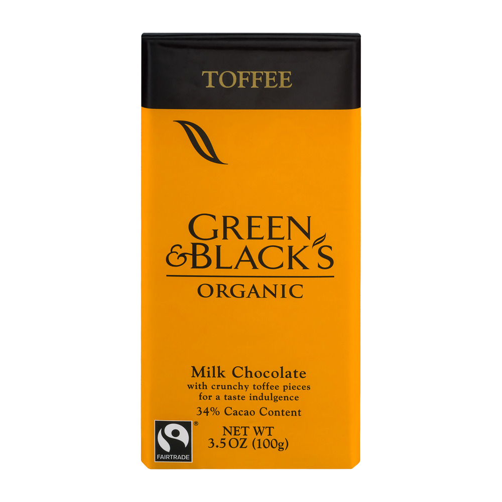 Green & Black's Organic Toffee Milk Chocolate 3.5 oz. Bar by Kraft Foods, Inc.