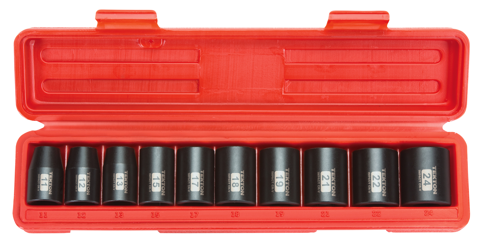 """10 PC 1/"""" ONE INCH DRIVE DR LARGE SIZE AIR BLACK IMPACT SOCKET WRENCH TOOL SET MM"""