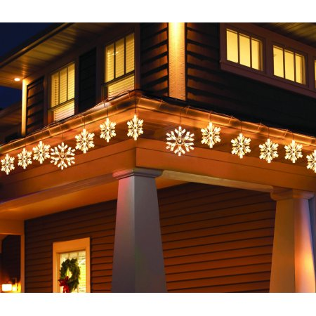 Holiday Time Twinkling Snowflake Icicle Light Set Comes With 105 Lights  White Wire Clear Bulbs, 9 Count - Walmart.com - Holiday Time Twinkling Snowflake Icicle Light Set Comes With 105