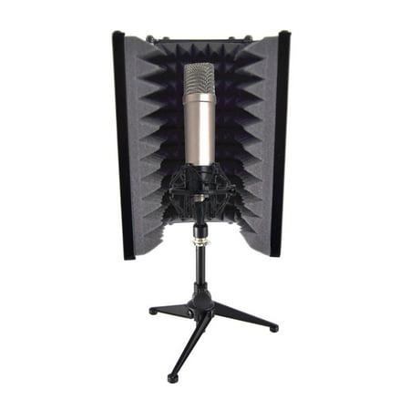 pyle psmrs08 compact microphone isolation shield studio mic sound dampening foam reflector. Black Bedroom Furniture Sets. Home Design Ideas