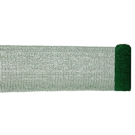Extra Wide Mesh Green Sparkle Tinsel Christmas Ribbon 6