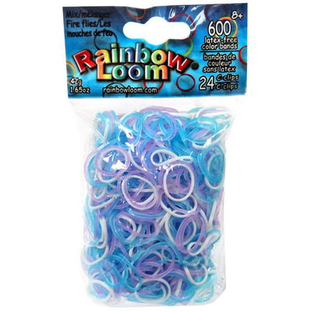 Rainbow Loom Glow Series Fire Flies Glow Rubber Bands Refill Pack [600 ct]