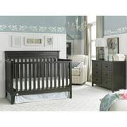 Fisher-Price Newbury 4-in-1 Convertible Crib, Dark Roast