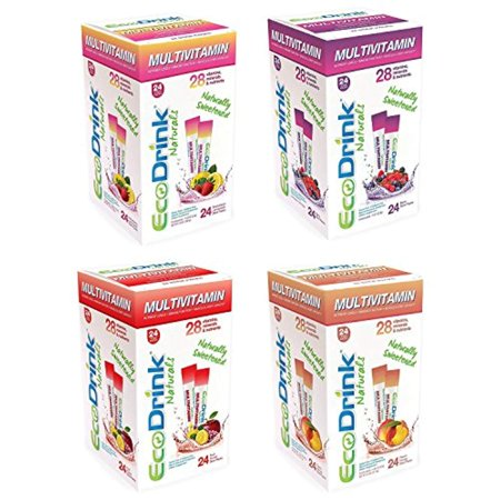 Flavor 1 Packet (Eco-Drink Eco-Drink Bulk Variety Pack 4 Flavors 96 Packets)