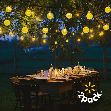 Lalapao 2 Pack Solar Powered Globe String Lights 30 Led