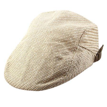 Linen Driving Cap (Men Women Vintage Newsboy Linen Ivy Cap Driving Golf Casual Flat Beret Hat)
