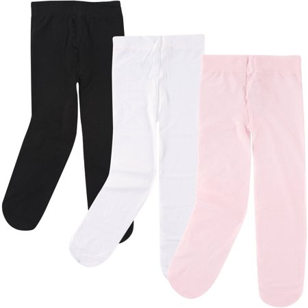 Baby Girl Tights, 3 Pack - Girls In White Tights