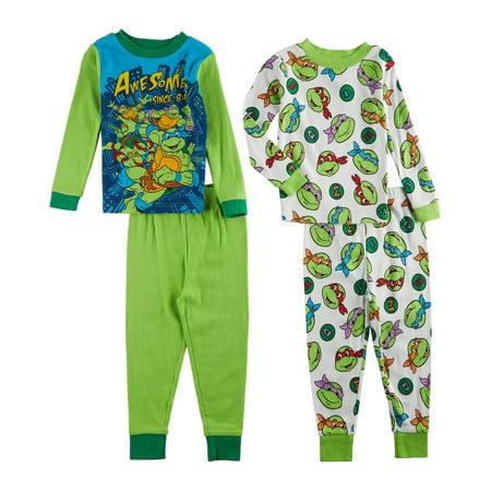 Ninja Turtles Toddler Boys 4-pc. Pajama Set - Ninja Pajamas