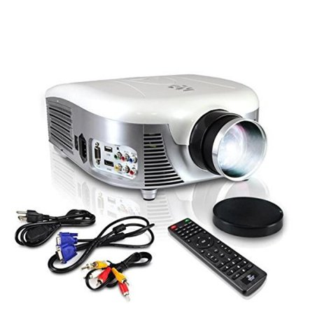 Pyle Video Projector Full HD 1080p - Widescreen Cinema Home Theater Projector, Built-in Stereo Speaker, Digital Multimedia, HDMI, USB & Adjustable Picture Projection for TV Computer &