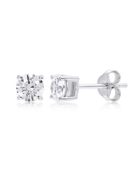 Stud Cubic Zirconia Sterling Silver Earrings made with Zirconia from Swarovskii