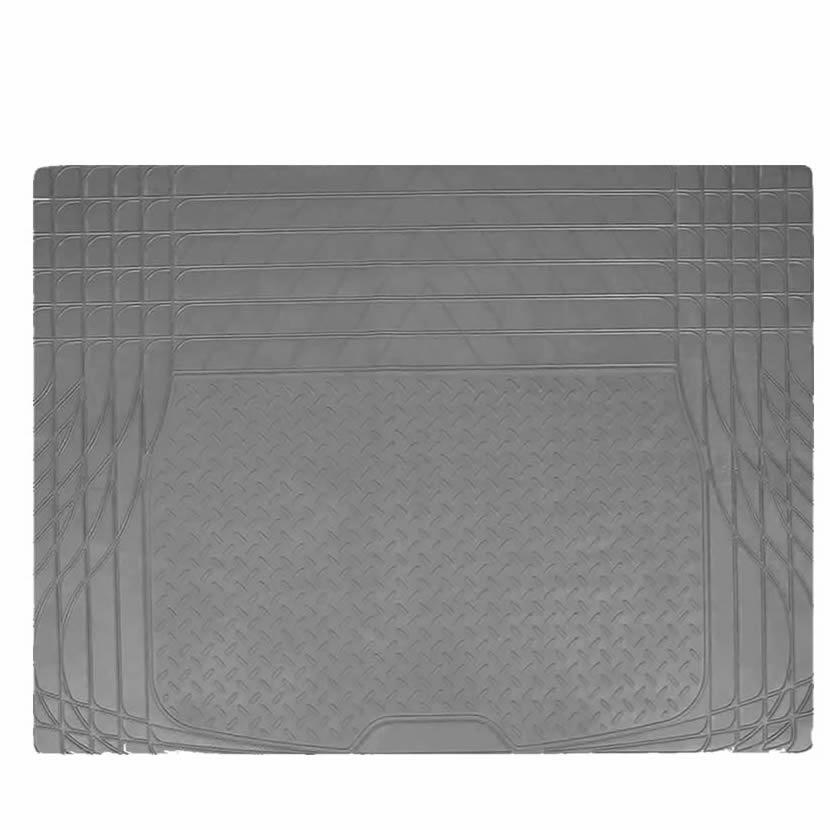 UAA All Season HD Trunk Cargo Rubber Floor Mat Liner - Gray