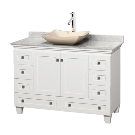 Wyndham Collection Acclaim 48 inch Single Bathroom Vanity in White Whi