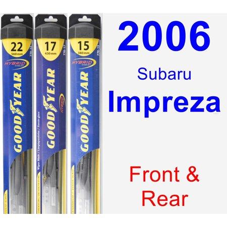 2006 Subaru Impreza Wiper Blade Set/Kit (Front & Rear) (3 Blades) - Hybrid