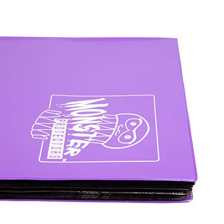 Monster Binder - 9 Pocket Trading Card Album - Matte Purple (Anti-theft Pockets Hold 360+ Yugioh Pokemon Magic the Gathering Cards) - image 3 of 4