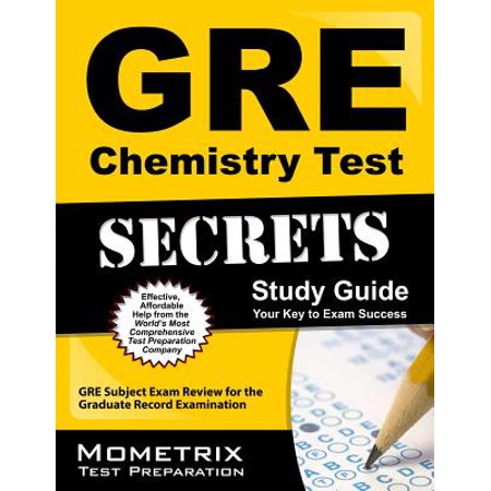 GRE Chemistry Test Secrets Study Guide : GRE Subject Exam Review for the  Graduate Record Examination
