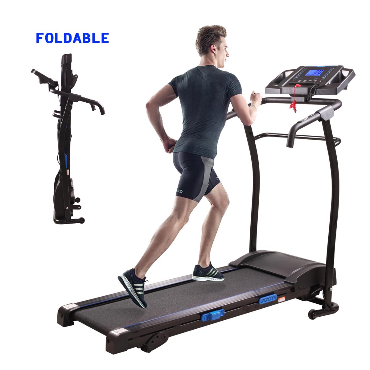 Jaxpety 1500W Treadmil Running Machine Folding Motorized Home Fitness Machine Black