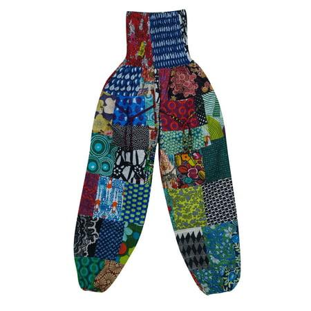 c27dcab6000dbb Mogul Interior - Mogul Womens Patchwork Cotton Regular Harem Pants ...