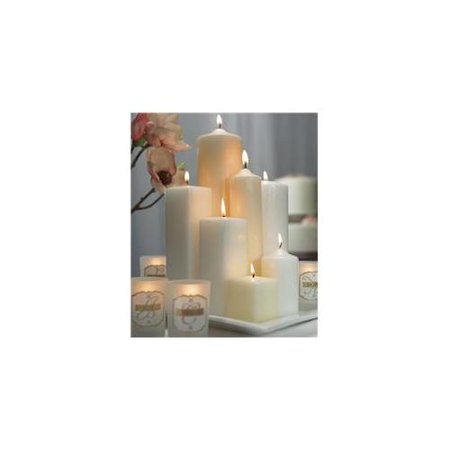 Weddingstar 1029-79 23cm H x 5cm Dia Round Pillar Candle - Ivory