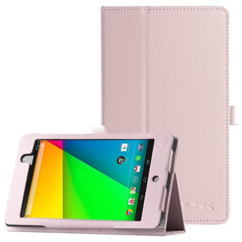 ULAK Google New Nexus 7 FHD 2nd Gen Case, Slim Smart Shell Stand Cover Case for Google Nexus 2 7.0 Inch 2013 Generation Tablet Pink (With Smart Cover Auto Wake / Sleep Feature)